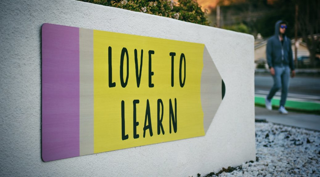 panneau love to learn